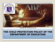 THE CHILD PROTECTION POLICY OF THE DEPARTMENT OF ...