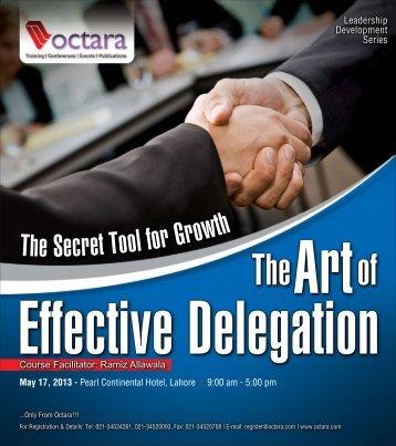 The Art of Effective Delegation - Octara.com