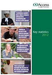 Download publication - Access to Higher Education