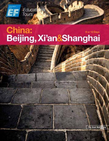 China: Beijing, Xi'an&Shanghai - EF Educational Tours