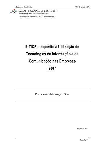 Final DM_IUTICE 2007_300307 - Statistics Portugal