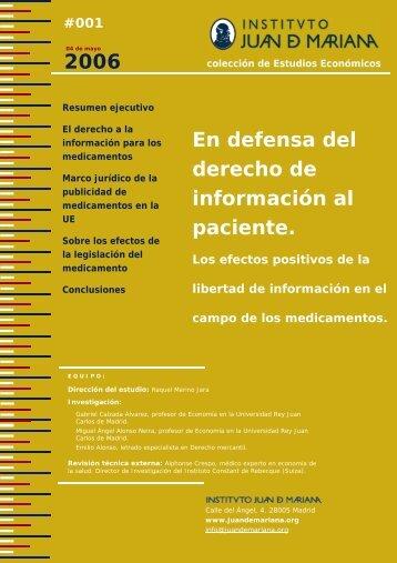 Propuesta de Informes Instituto Juan de Mariana
