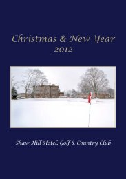 Christmas & New Year 2012 - Shaw Hill Hotel