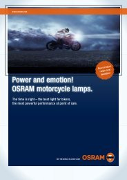 Power and emotion! OSRAM motorcycle lamps.