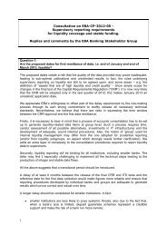 Consultation on EBA-CP-2012-05 - European Banking Authority