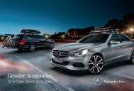 Genuine accessories for the E-Class - Mercedes-Benz PRAHA