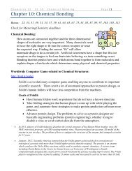 Chapter 10: Chemical Bonding - Moorpark College