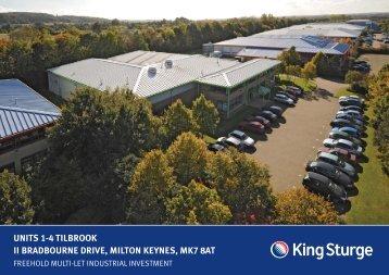 units 1-4 tilbrook ii bradbourne drive, milton keynes ... - King Sturge