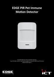 EDGE PIR Pet Immune Motion Detector Brochure (517.6 Kb) - ICT