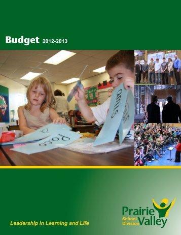 Budget 2012-2013 - Prairie Valley School Division