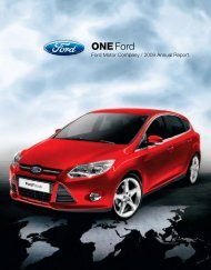 2009 Annual Report - Ford Motor Company