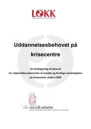Uddannelsesbehovet på krisecentre - Servicestyrelsen