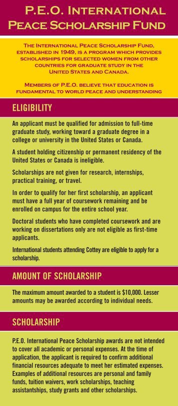 P.E.O. International Peace Scholarship Fund
