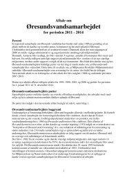 Samarbejdsaftale 2011 - Øresundsvandsamarbejdet