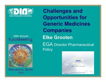 Challenges and Opportunities for Generic Medicines Companies