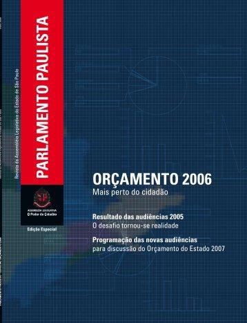Especial Orçamento 2006 - Assembleia Legislativa do Estado de ...
