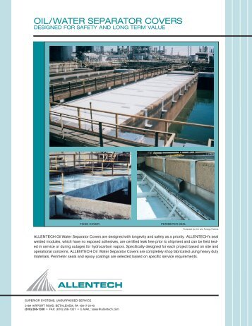 OIL/WATER SEPARATOR COVERS - ALLENTECH
