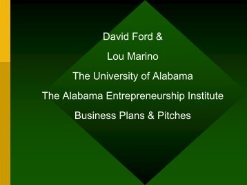 TYPES OF INNOVATION - AIME - The University of Alabama