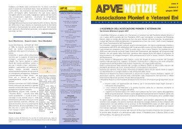 ApveNotizie Giugno 2007 - associazione pionieri e veterani eni