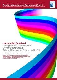 Management and Professional Development Group - Universities ...