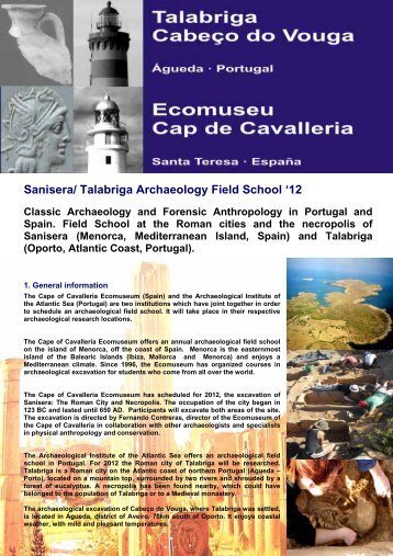 Sanisera/ Talabriga Archaeology Field School '12