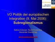 Subregionalismus in Europa - European Security Conference Initiative