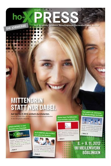 Messe-Zeitung - ho-X Hospitality Excellence