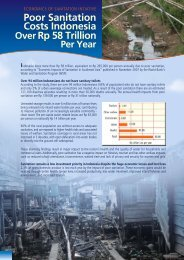 Economic Impacts of Sanitation in Indonesia - WSP