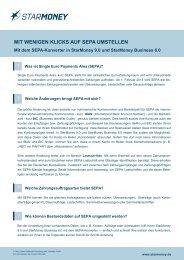 StarMoney und SEPA