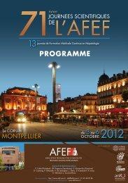 AFEF 2012 - Programme