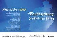 Mediadaten 2010 - Pressrelations GmbH