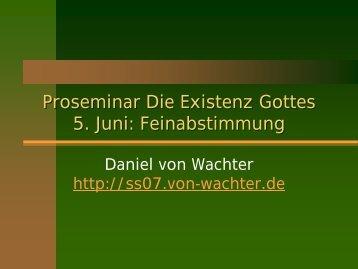 e - Daniel von Wachter
