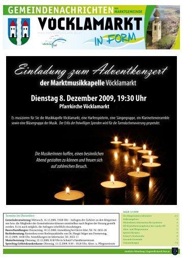 Gemeindezeitung Dezember 2009 (1,05 MB) - Vöcklamarkt - Land ...
