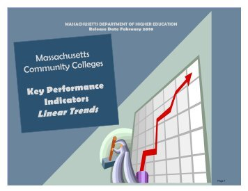 2009-2010 Linear Trend Book: Community Colleges