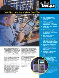LANTEK® 6 LAN Cable Certifier