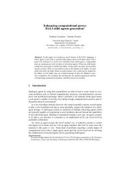 Enhancing computational power - Stefania Costantini's Home Page