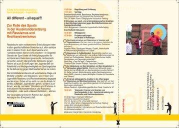 Flyer - Schnittstellenkonferenzen Sport- und Jugendhilfe