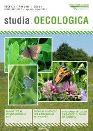 studia.OECOLOGICA - Fakulta životního prostředí - UJEP