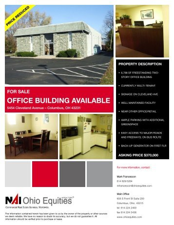 for sale office building available