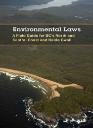 A Field Guide for - The Environmental Law Centre - University of ...