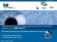 RBE Plus Analysis - IBIS Prof. Thome