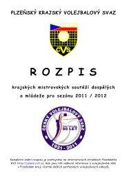 Rozpis PKVS 2011 - Plzeňský krajský volejbalový svaz - ČVS