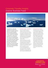 Corporate Traveller Insights. Greener Business Travel.