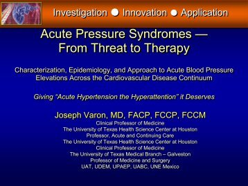Acute Pressure Syndromes — From Threat to Therapy Acute ...