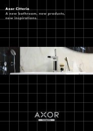 Axor Citterio A new bathroom, new products, new ... - Hansgrohe