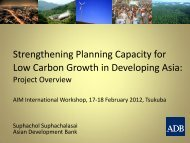Strengthening Planning Capacity for Low Carbon Growth in ...