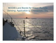MODIS Land Bands for Ocean Remote Sensing: Application to ...