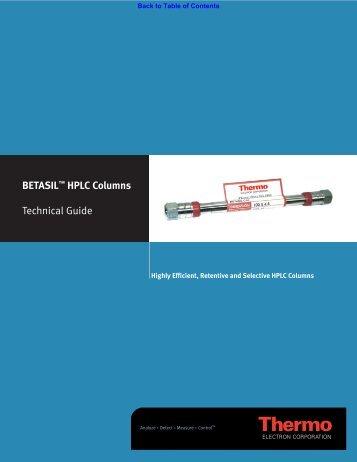 Betasil™- High Carbon – Extended Chemistry - Chromatopak