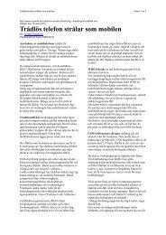 Artikel i Ny Teknik av: Anders Wallerius - Elöverkänslig