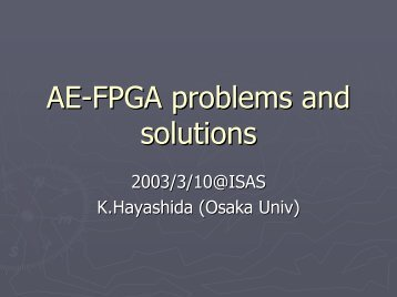 AE-FPGA problems and solutions